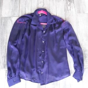 100%pure silk dkny nwot sheer button down